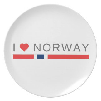 Jag älskar norge tallrik