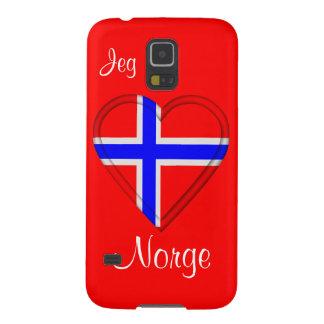 Jag älskar norgeJeg elsker Norge Galaxy S5 Fodral