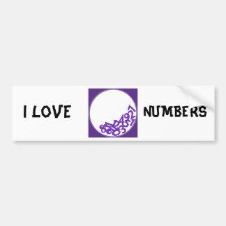Jag älskar numrerar bildekal