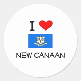 Jag älskar nya Kanaan Connecticut Runt Klistermärke