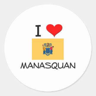 Jag älskar nya Manasquan - jerseyen Runt Klistermärke