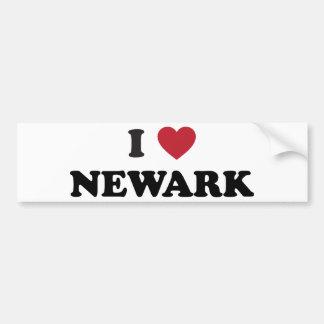 Jag älskar nya Newark - jerseyen Bildekal