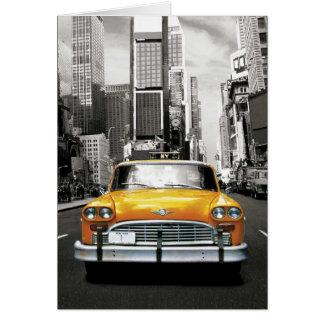 Jag älskar NYC - den New York taxin Hälsningskort