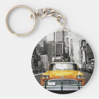 Jag älskar NYC - den New York taxin Rund Nyckelring