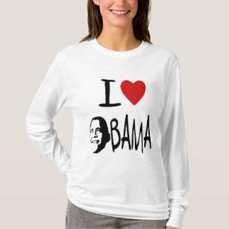 Jag älskar obama kvinna hoodie