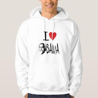 Jag älskar obama manar hoodie