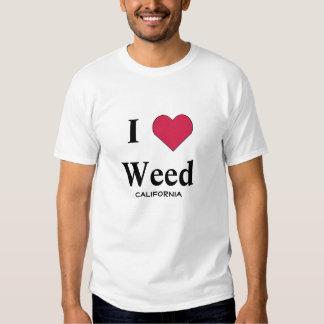 Jag älskar ogräset Kalifornien T Shirts