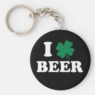 Jag älskar öl rund nyckelring