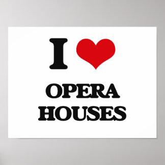 Jag älskar operahus poster
