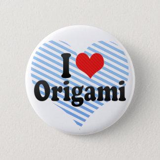 Jag älskar Origami Standard Knapp Rund 5.7 Cm