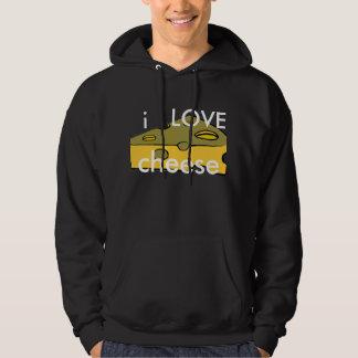 jag älskar ost sweatshirt med luva