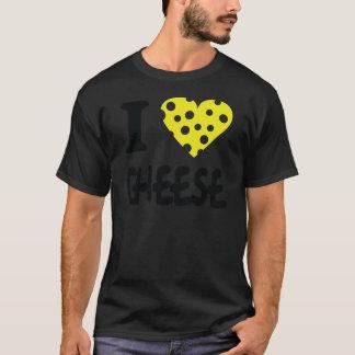 Jag älskar ostsymbolen t-shirt