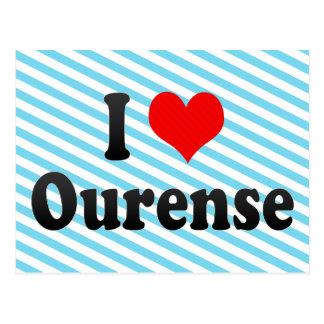Jag älskar Ourense, Spanien. Mig Encanta Ourense, Vykort