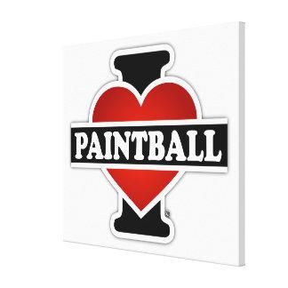 Jag älskar Paintball Canvastryck