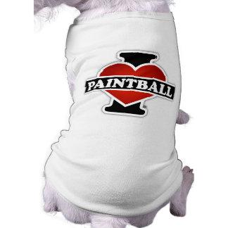 Jag älskar Paintball Husdjurströja