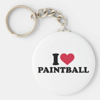 Jag älskar Paintball Rund Nyckelring