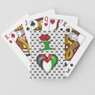 Jag älskar Palestina mig hjärta Palestina Spelkort