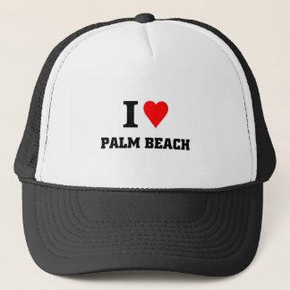 Jag älskar Palm Beach Truckerkeps