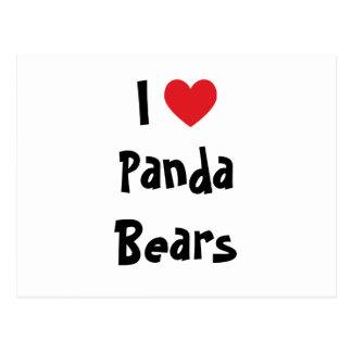 Jag älskar Pandabjörnar Vykort