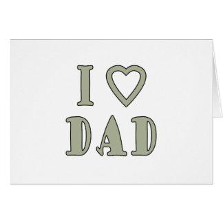 Jag älskar pappan hälsningskort