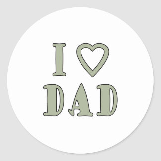 Jag älskar pappan runt klistermärke