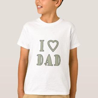 Jag älskar pappan tee shirts