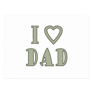 Jag älskar pappan vykort