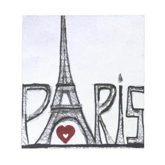 Jag älskar Paris Anteckningsblock