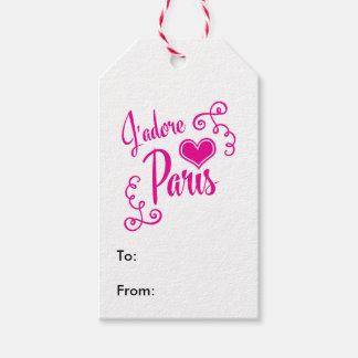 Jag älskar Paris - J'adore Paris vintagestil Presentetikett