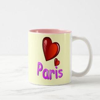 Jag älskar Paris Två-Tonad Mugg