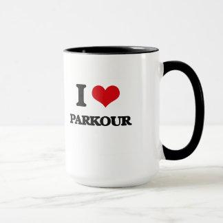 Jag älskar Parkour Mugg