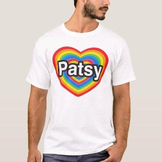 Jag älskar patsyen. Jag älskar dig patsyen. Hjärta T-shirts