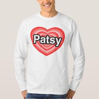 Jag älskar patsyen. Jag älskar dig patsyen. Hjärta Tee Shirts