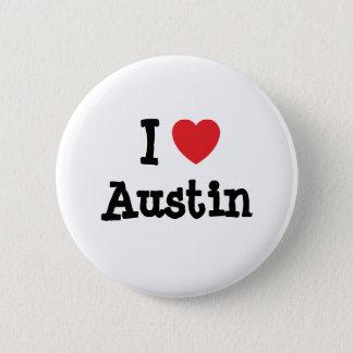 Jag älskar personlig för Austin hjärtaanpassningsb Standard Knapp Rund 5.7 Cm