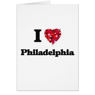Jag älskar Philadelphia Pennsylvania Hälsningskort
