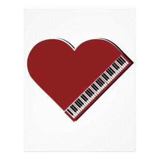 Jag älskar pianot brevhuvud