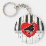 Jag älskar pianot nyckelringar