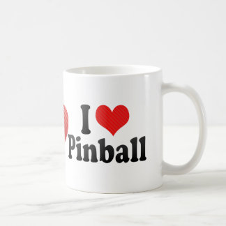 Jag älskar pinballen kaffemugg