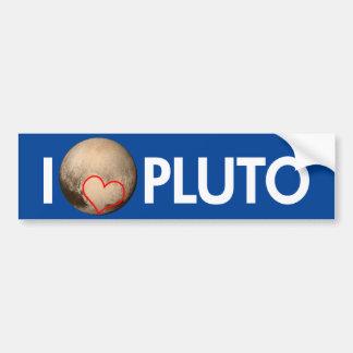Jag älskar Pluto Bildekal