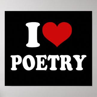 Jag älskar poesi poster