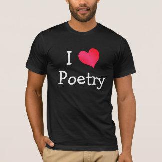 Jag älskar poesi t shirt