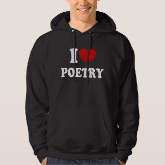 Jag älskar poesi tröja med luva