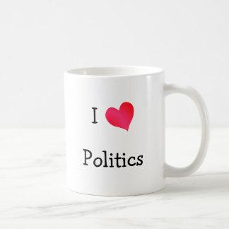 Jag älskar politik kaffemugg