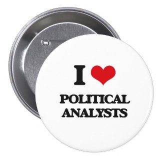 Jag älskar politisk analytiker nål
