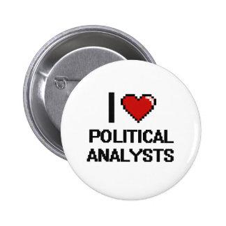 Jag älskar politisk analytiker standard knapp rund 5.7 cm