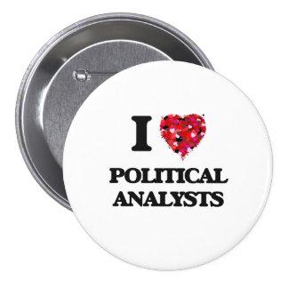 Jag älskar politisk analytiker mellanstor knapp rund 7.6 cm