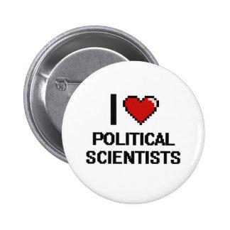 Jag älskar politisk forskare standard knapp rund 5.7 cm