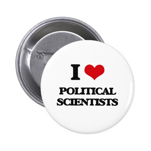 Jag älskar politisk forskare knappar med nål