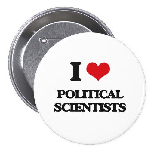 Jag älskar politisk forskare knapp