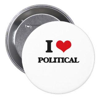 Jag älskar politiskt knappar med nål